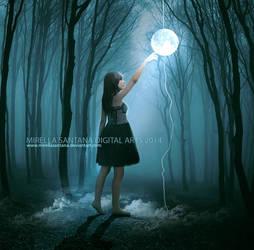 Touching the moon by MirellaSantana