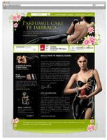 Perfume website by rusadrianewald