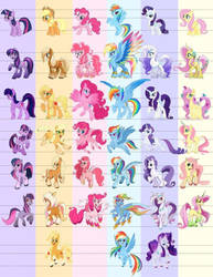 mlp g5 designs! not mine by TheDivineSilver