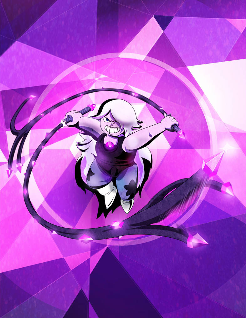 "It's the ""purple one"", it's the ""Purple Puma"", it's Amethyst!  Seriously, Steven Universe is an awesome show you must watch! : D More Crystal Gems: Pearl Garnet Steven Universe Rose Quartz Rub..."