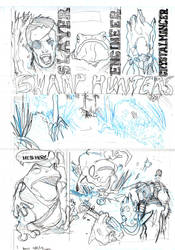 Swamp Hunter Pencils by SippingTea