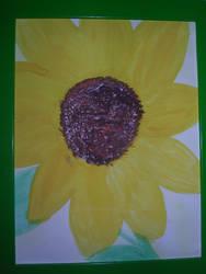 Sunflower in watercolors by bubblebear79