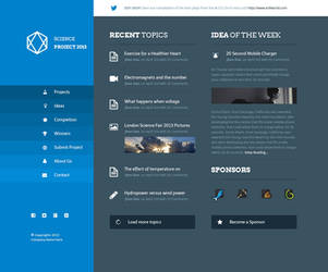 Science Project PSD Template by azyrusmax