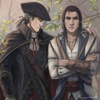 Haytham and Connor by Tomopotato