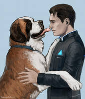 Connor and Sumo by Tomopotato