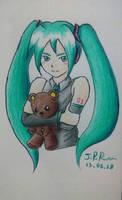 Hatsune Miku and the bear. by JoaoRibeiro123