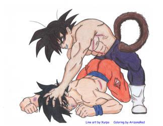 Goku vs Kakkarot - Colored by ArizonaRed