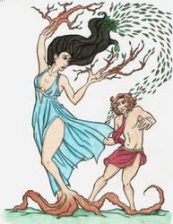 Apollo and Daphne-Colored by ArizonaRed