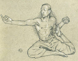 sophicyogastudent yoga pose pencils LG by jetdog-art
