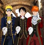 Naruto Luffy and Ichigo by Narusailor