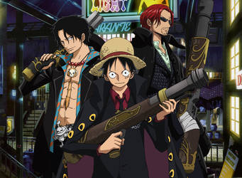 Ace-Luffy-Shanks by Narusailor