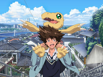 Taichi Yagami and Agumon by Narusailor