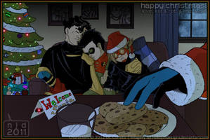 Young Justice - Santa Stalking by nekojindesigns