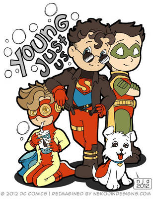 Young Justice - BFF by nekojindesigns