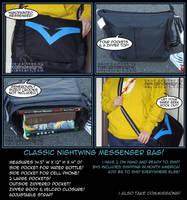 Nightwing Messenger Bag! by nekojindesigns