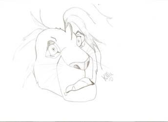 terrified Mufasa by Porzy-Killy