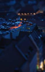 Nuernberg Blue Night TiltShift by NinjaKiller