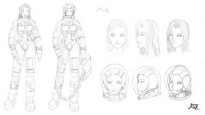 Commish- Mia Sketchy character by jarloworks