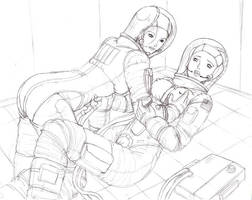 Commish- Mia and Lisa 1 Sketchy by jarloworks