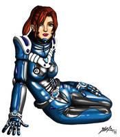 Pin-up Spacegirl (2014 RE-BLAST) by jarloworks