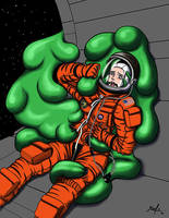 Commish - Aces Astronaut VS Blob by jarloworks