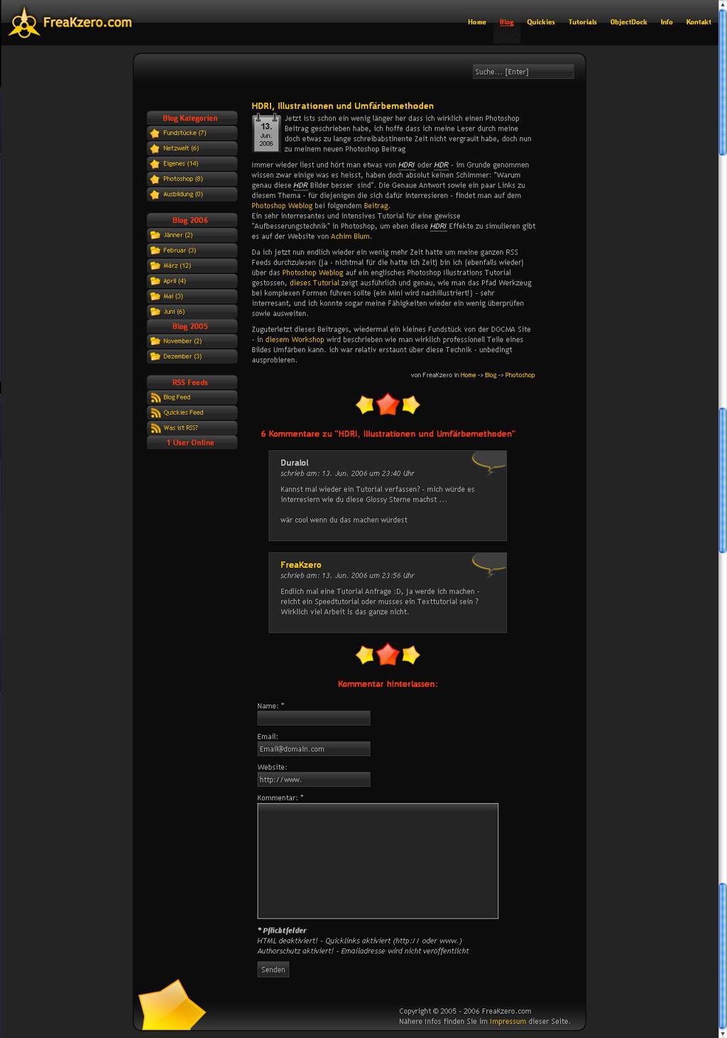 New Blog Design by FreaK0
