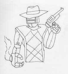 Robot Cowboy by shadow-otm