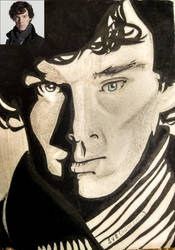 Sherlock-Benedict Cumberbatch by Sue-BlackWings