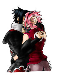 Sasuke x Sakura - Colour by Avro-Chan