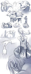 Sketch - bar n fight by shamcy