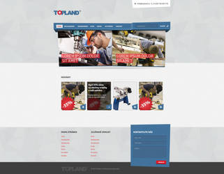 Topland tools manufacturer webdesign by djonas3