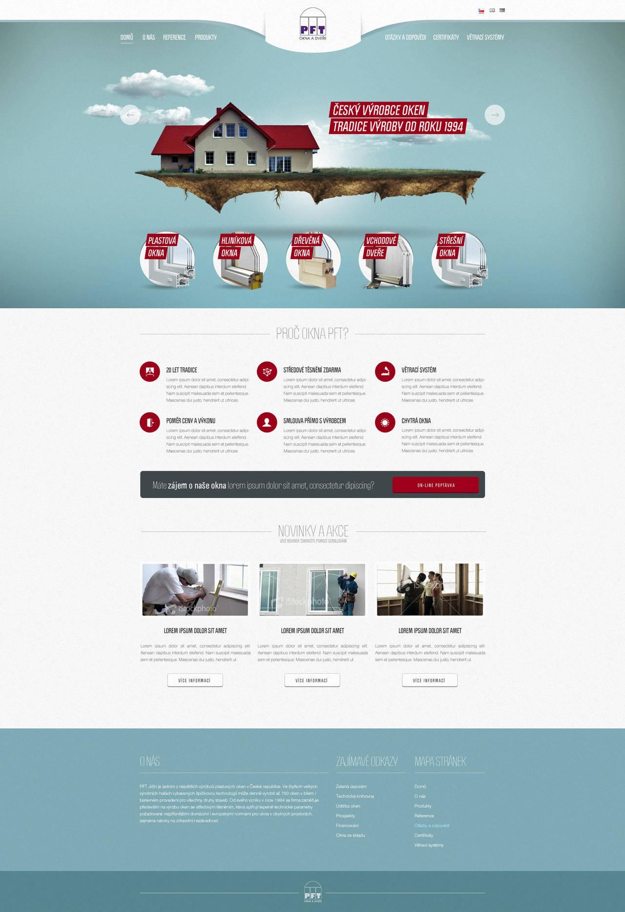 PFT Windows website design by djonas3