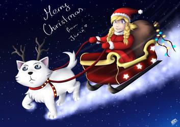 [Fan Art] Silver - christmas card by Saari
