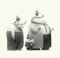 pigs by baydaku