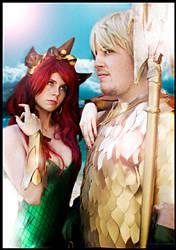 Aquaman and Mera new 52 by JonathanDuran