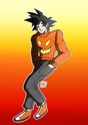 Halloween Goku by Gihellcy-Bleizdu