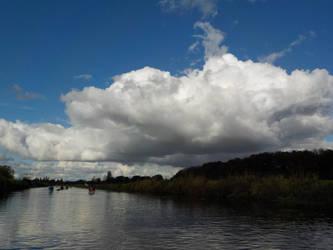 Beautiful clouds above the Niers by langeboom