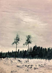 Veluwe snow by langeboom