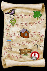 Free Food - Bird's Map by WalnutHill