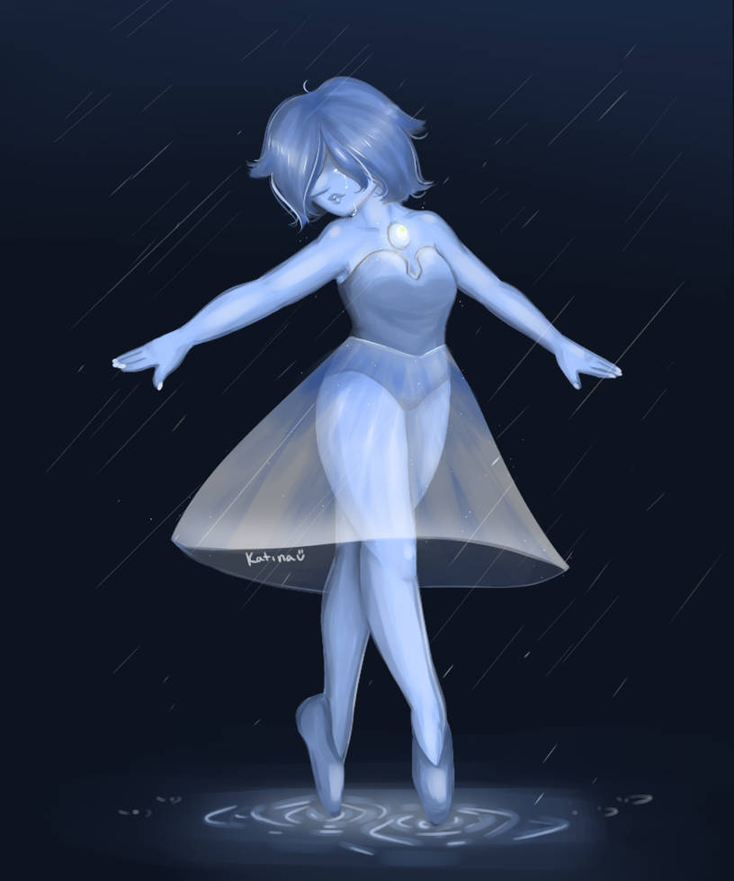 I drew my favorite pearl from steven universe