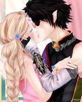 Kiss By The Window (Eldarya) by nakiisan