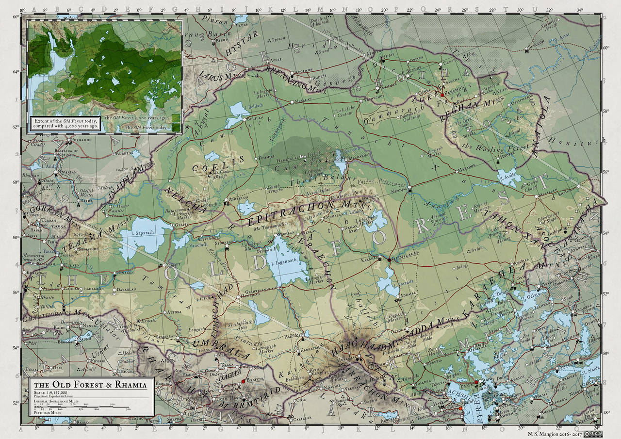 Atlas Elyden #20 - the Old Forest by vorropohaiah