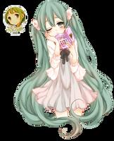 || Vocaloid Render || Hatsune Miku || by Izza-chan