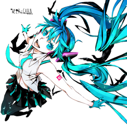 || Vocaloid Render || Miku Hatsune || by Izza-chan