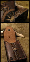 'The Sun'  Leather tarot cards case by morgenland