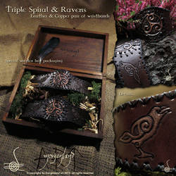 Triple Spiral + Ravens wristbands by morgenland