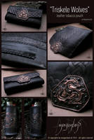 Triskele Wolves tobacco pouch by morgenland