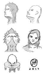 Head angles practice by Jack15101
