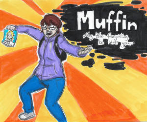 Muffin joins the battle! by KawaiiSweetMuffinArt