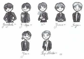 BTS bois owo by KawaiiSweetMuffinArt